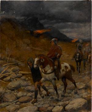 Reiter im Gebirge, nicht datiert