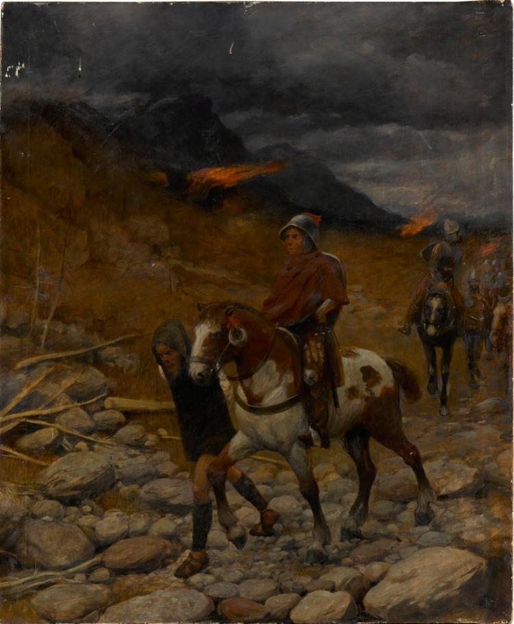 Reiter im Gebirge