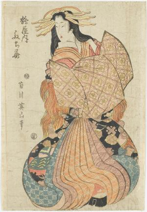 Eine Kurtisane aus dem Tsuru-ya, Ende 18./Anfang 19. Jh.