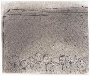 Menschen hinter Stacheldraht (aus: Captivity), 1940
