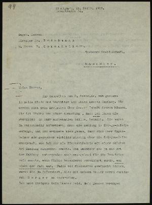 Meine Herren, Ihr Schreiben vom..., 12.12.1918
