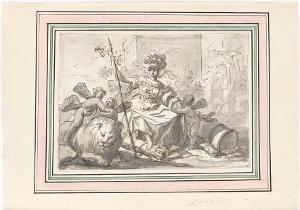 Fortitudo mit Löwe, Säulenstumpf und Keule, nicht datiert