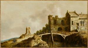 Flußlandschaft mit Christus und den beiden Jüngern auf dem Weg nach Emmaus, 1632