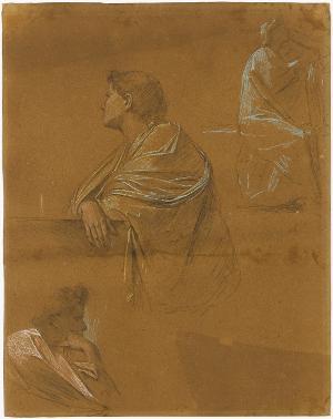 Figuren- und Gewandstudien, um 1867