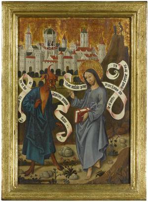 Die Versuchung Jesu, um 1490/1500