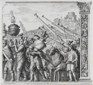Die Vasenträger (Blatt 4 in: Der Triumphzug Caesars), 1682
