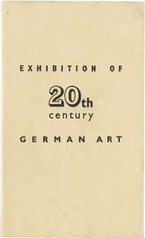 Exhibition of 20th century German Art, London New Burlington Gal., Juli 1938