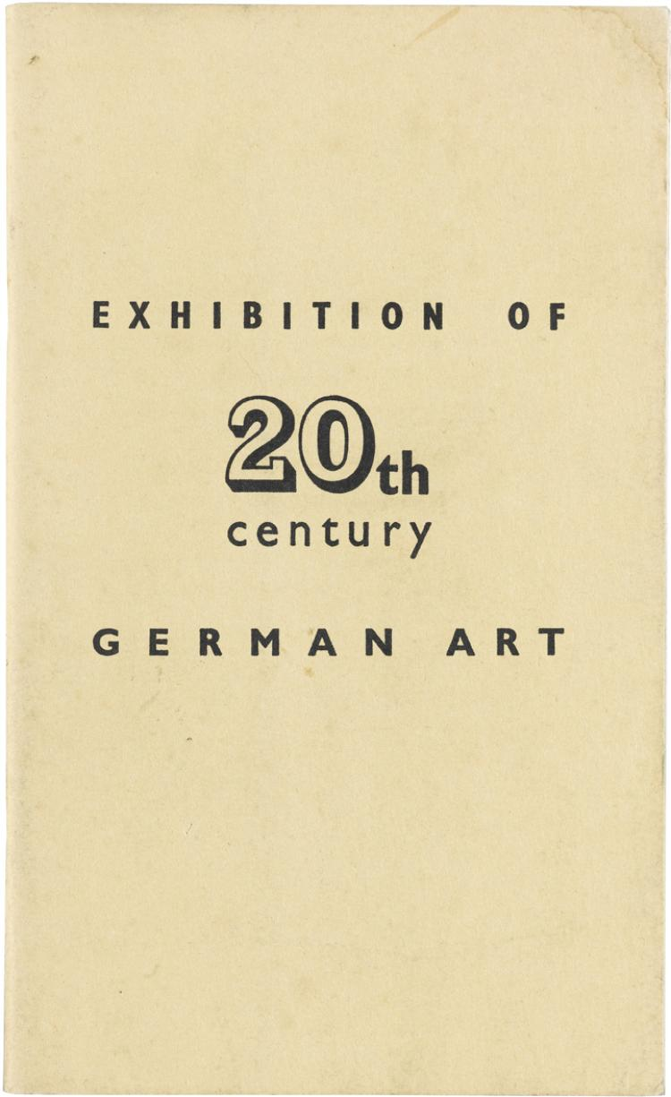 Exhibition of 20th century German Art, London New Burlington Gal.