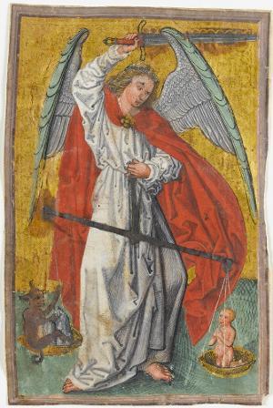 Der heilige Michael als Seelenwäger, um 1480/90