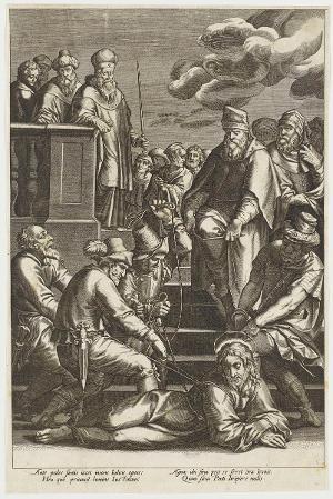 Pilatus bricht den Stab (Die Passion Christi), um 1600