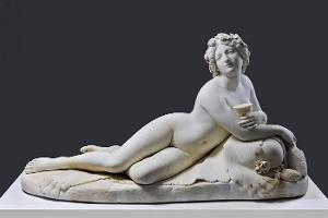 Liegende Bacchantin, um 1838