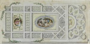 Entwurf einer Deckendekoration, um 1805/10