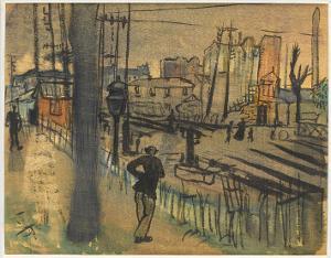 Berliner Vorstadt; Verso: Skizze, nicht datiert
