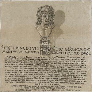 Widmung an Vincenzo I. Gonzaga (in: Der Triumphzug Caesars), 1599