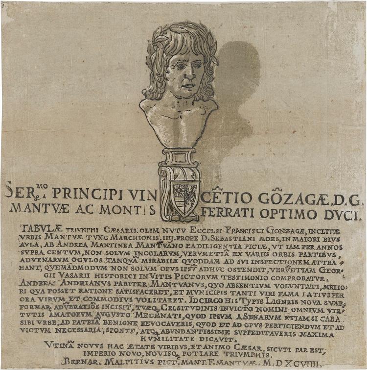 Widmung an Vincenzo I. Gonzaga (in: Der Triumphzug Caesars)
