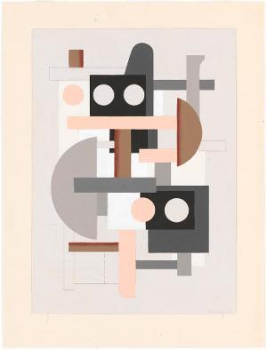Abstraktion auf Hellgrau, 1927