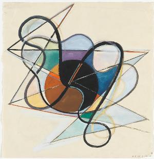 Konstruktivistische Komposition; Verso: ebenso, 1941