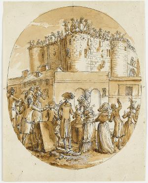 Der Abbruch der Bastille, 1789