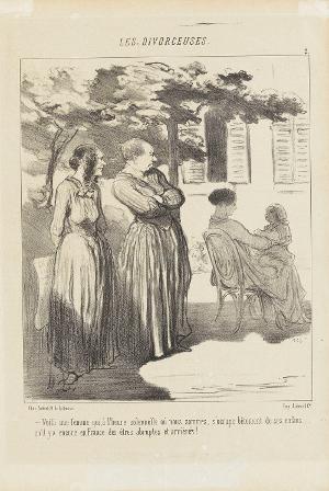 Die Scheidungsrechtlerinnen, 2 (Le Charivari, 12.08.1848), 1848