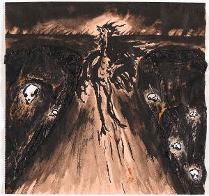 Gallo Barbarico (Barbarischer Hahn), 1982