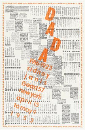 Plakat- und Kataloggestaltung zur Ausstellung »Dada: 1916-1923«, New York, 1953, 1953