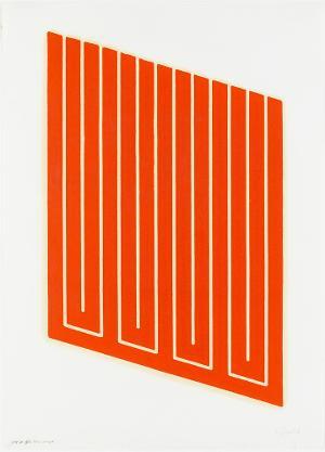 Parallelogramm rot gedruckt, 1961-63 / 1968-69