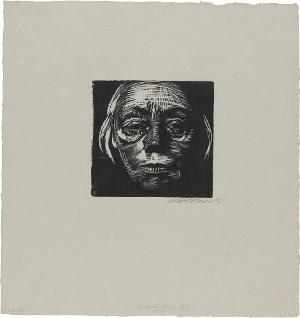 Selbstbildnis von vorn, 1922/23