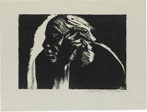 Selbstbildnis (Blatt 3 in: Die Schaffenden, 5. Jahrgang, 1. Mappe), Frühjahr 1924