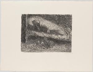 Der tote Tag, Blatt 2: Träumender Jüngling, 1912