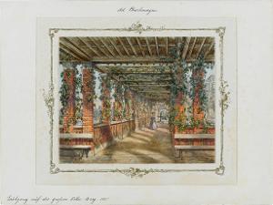 Laubgänge auf der grossen Villa, Berg, 1857